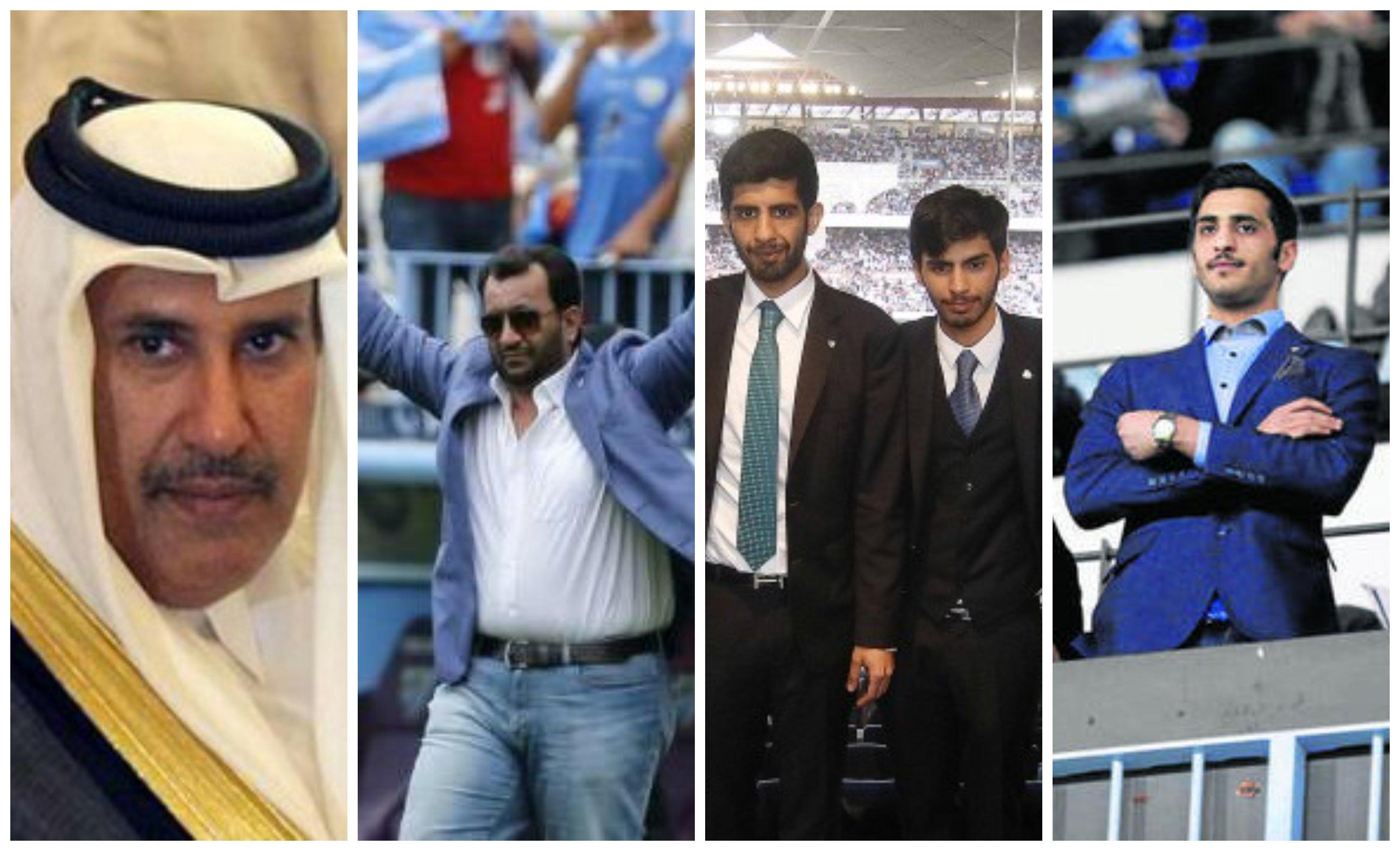 Hamad Bin Jassim Bin Jaber Al Thani, su hijo Abdullah Al-Thani (presidente del Málaga CF) y los hijos de éste, el vicepresidente del club Sheikh Nasser Al Thani y los consejeros Nayef Al Thani y Rakkan Al Thani