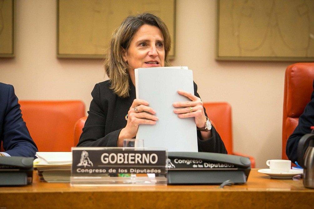 La vicepresidenta Teresa Ribera, en su primera comparecencia de la legislatura ante la Comisión de Transición Ecológica y Reto Demográfico