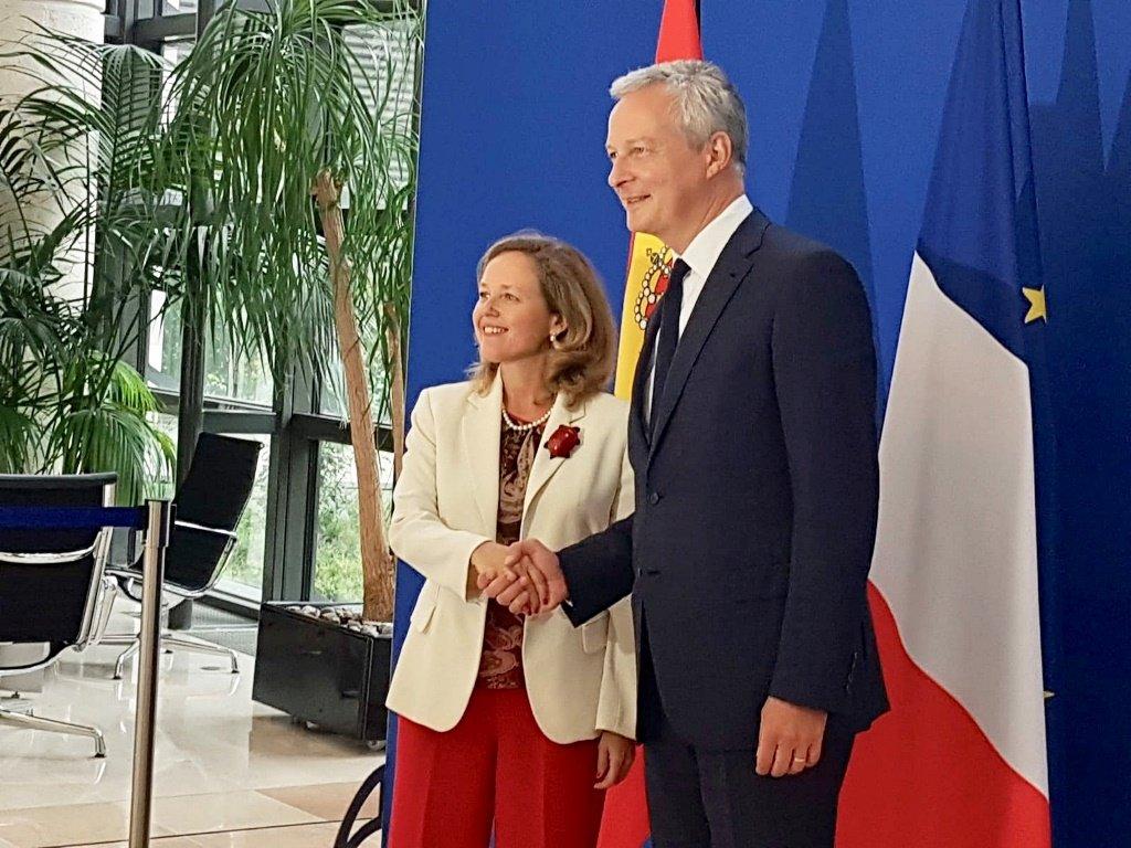 Nadia Calviño y Bruno Le Maire, ministro de Economía y Finanzas de Francia