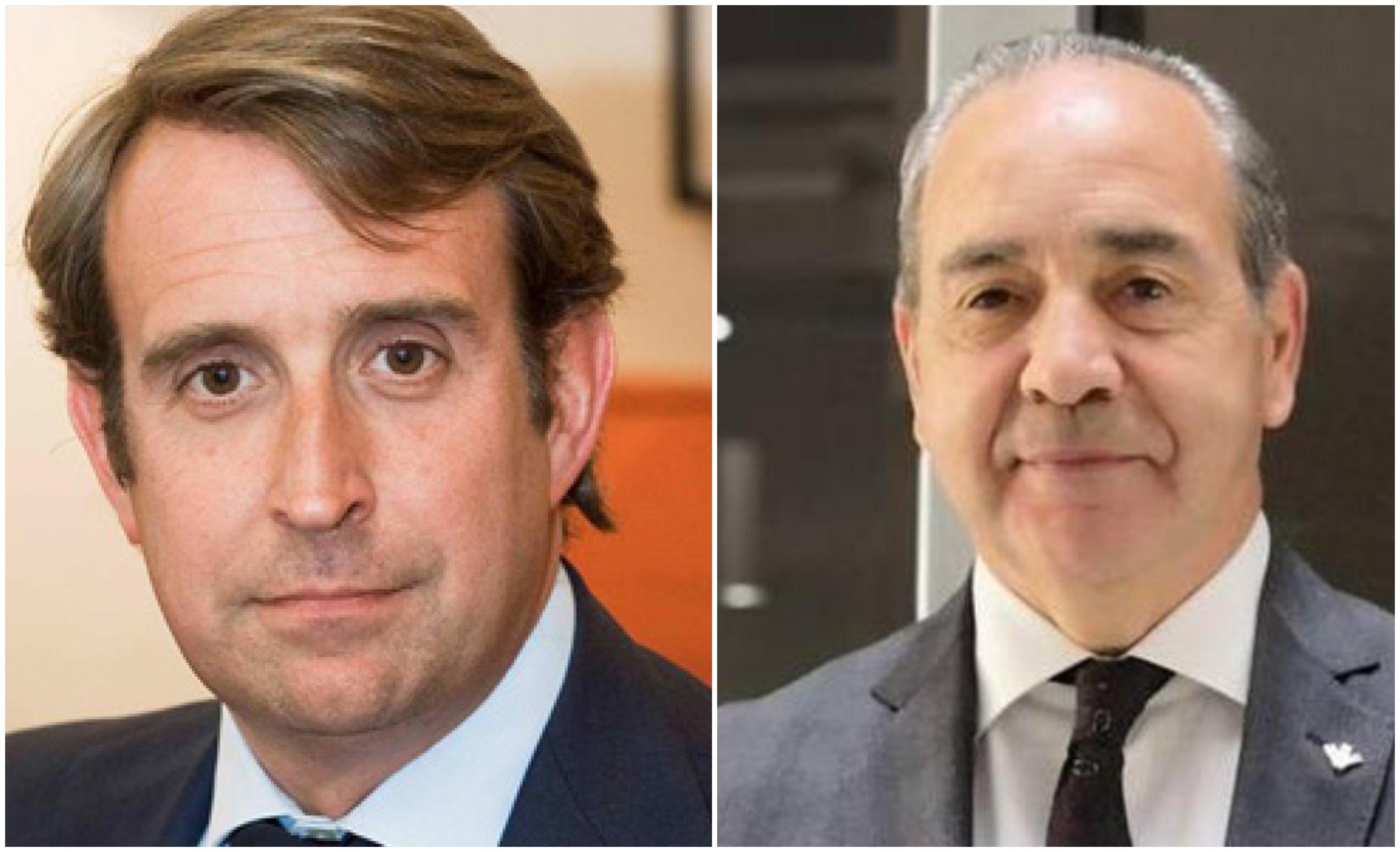 Javier Oficialdegui (UBS), quiere fusiones, Cipriano García (Caja Rural de Zamora), no