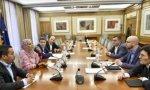 La reunión del secretario de Estado Ignacio Álvarez y la representante saharaui