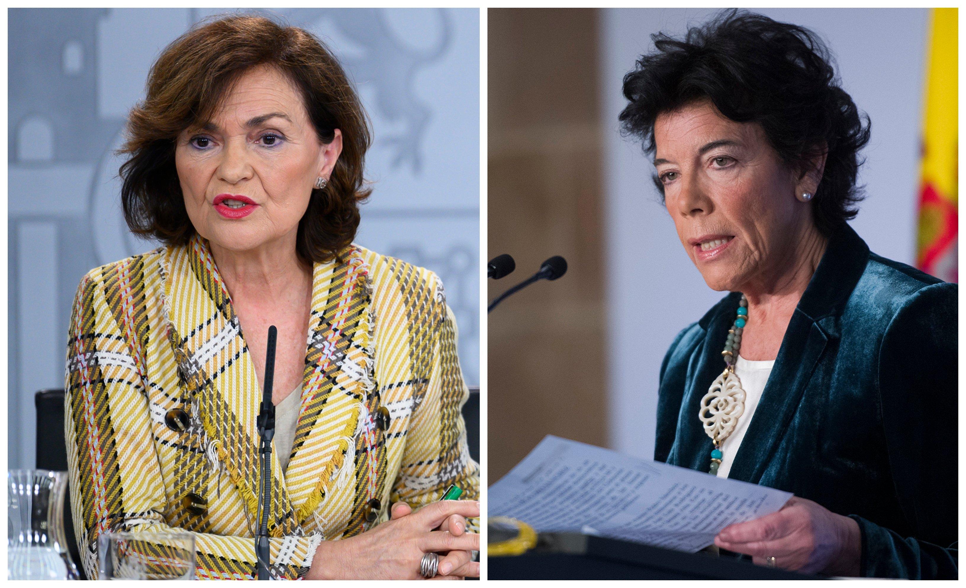 Corrupción de menores. Carmen Calvo amenaza: la sectaria ley de educación de Celaá es inminente