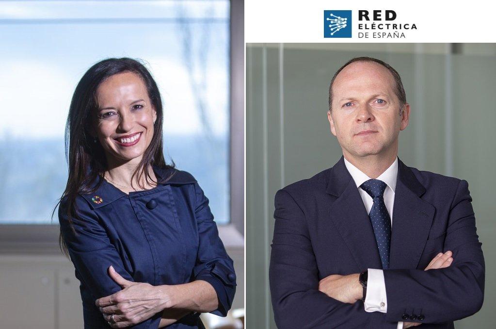 Beatriz Corredor, presidenta de Red Eléctrica, y Roberto García Merino, CEO