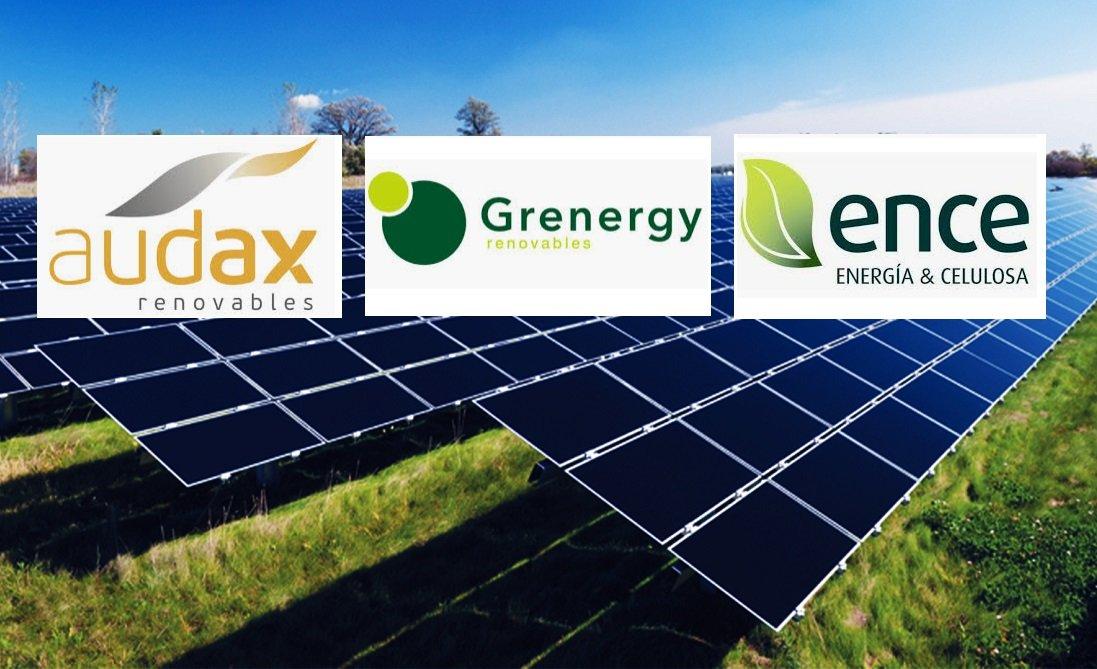 Un parque fotovoltaico, una de las actividades a la que se dedican estas tres compañías energéticas