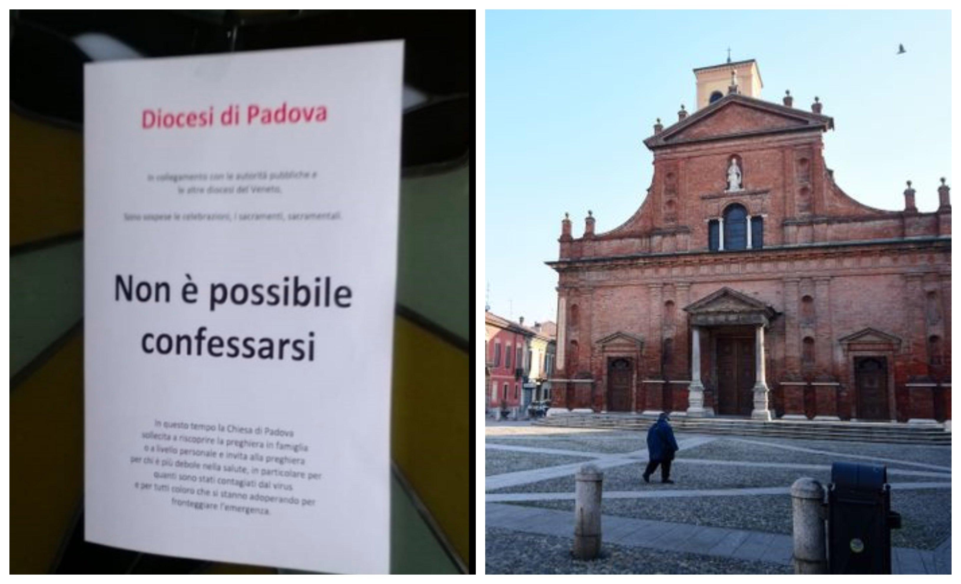 Iglesias en Italia cerradas por el coronavirus
