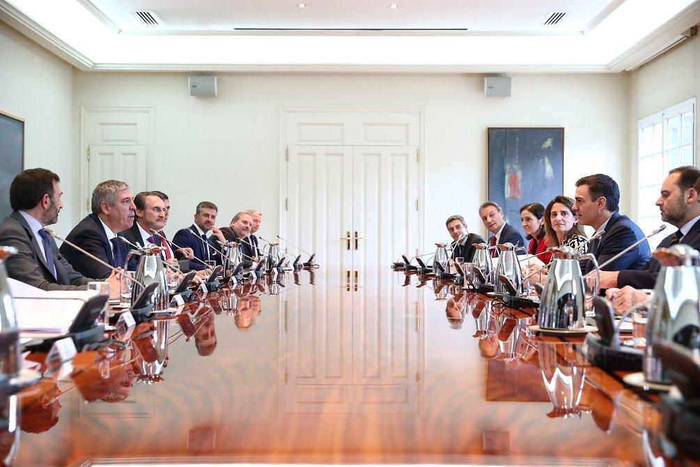Reunión de la Junta Directiva de Anfac con el Gobierno