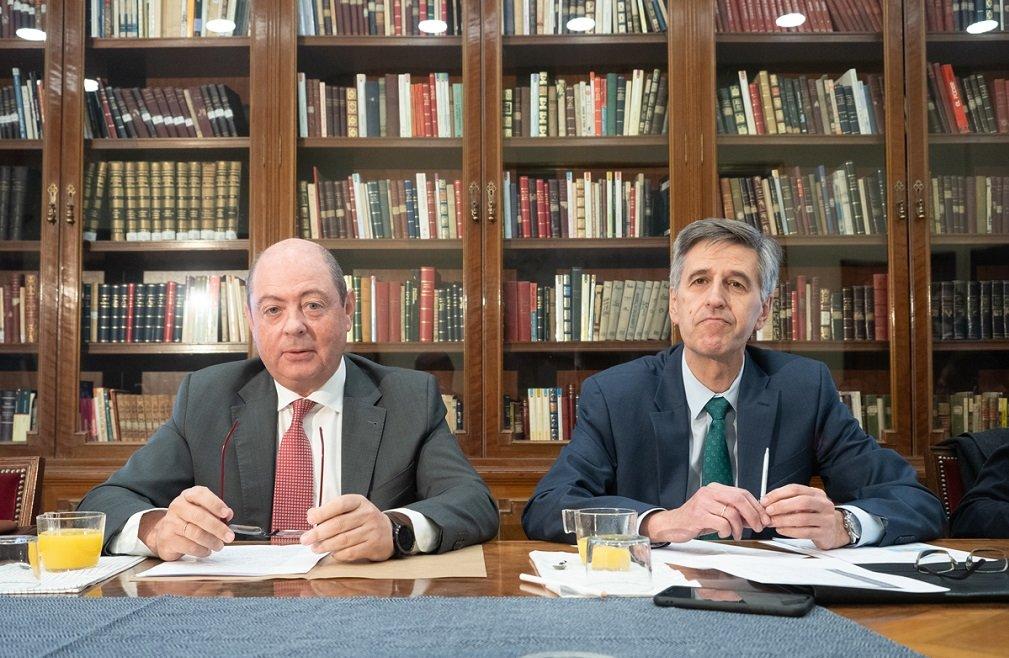 Javier Guerra, director general de Tecnatom y presidente de la SNE, y José Emeterio Gutiérrez, Senior Advisor & Consultant y expresidente de Westinghouse