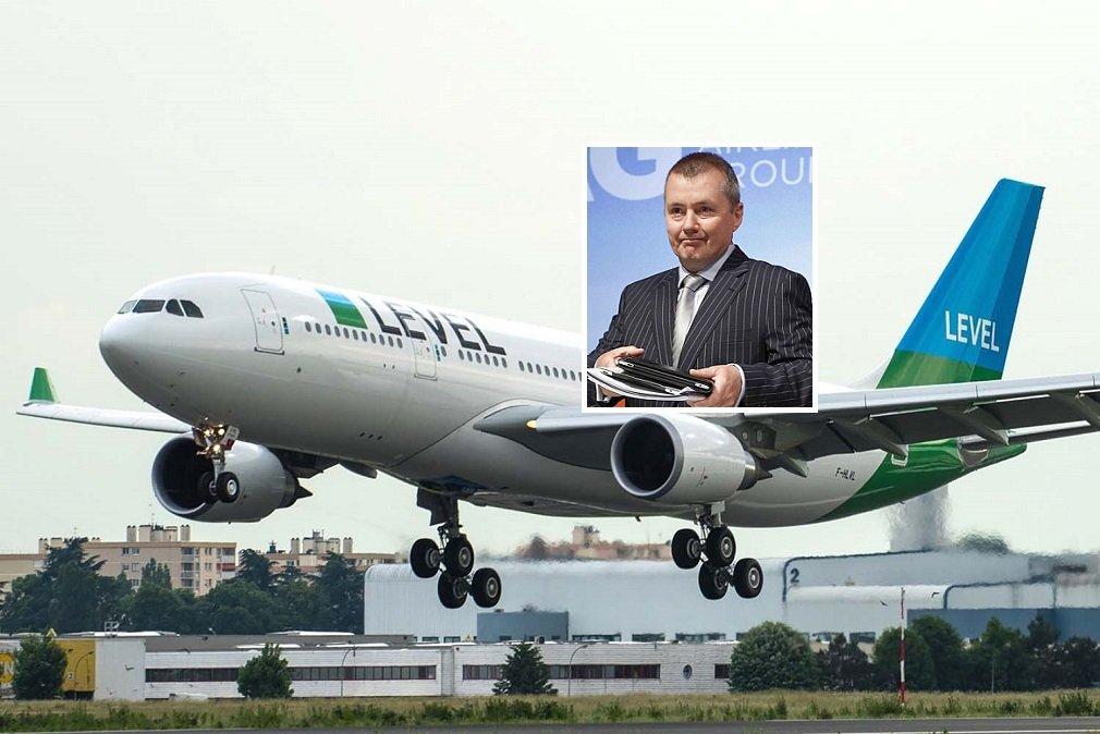 Un avión de Level y Willie Walsh, que dejará de ser CEO de IAG el próximo 26 de marzo y se irá del holding el 30 de junio