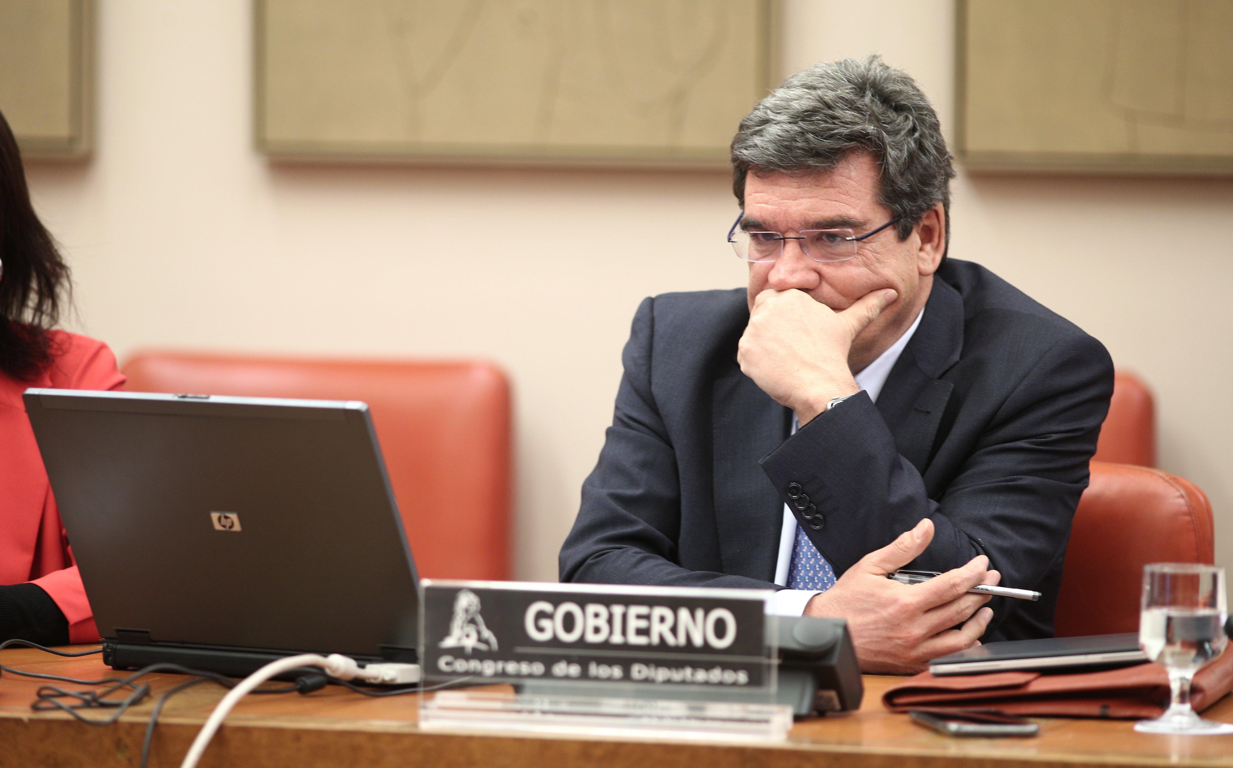 José Luis Escriva durante su comparecencia en el Congreso