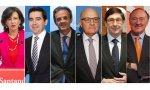 Semana decisiva para Ana Botín (Santander), Carlos Torres (BBVA), Jordi Gual (Caixabank), Josep Oliu (Sabadell), José Ignacio Goirigolzarri (Bankia), y Pedro Guerrero (Bankinter)