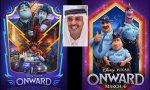 El cartel de la película 'Onward' y otro donde se puede ver a la oficial de policía homosexual Spector, junto al jeque de Qatar