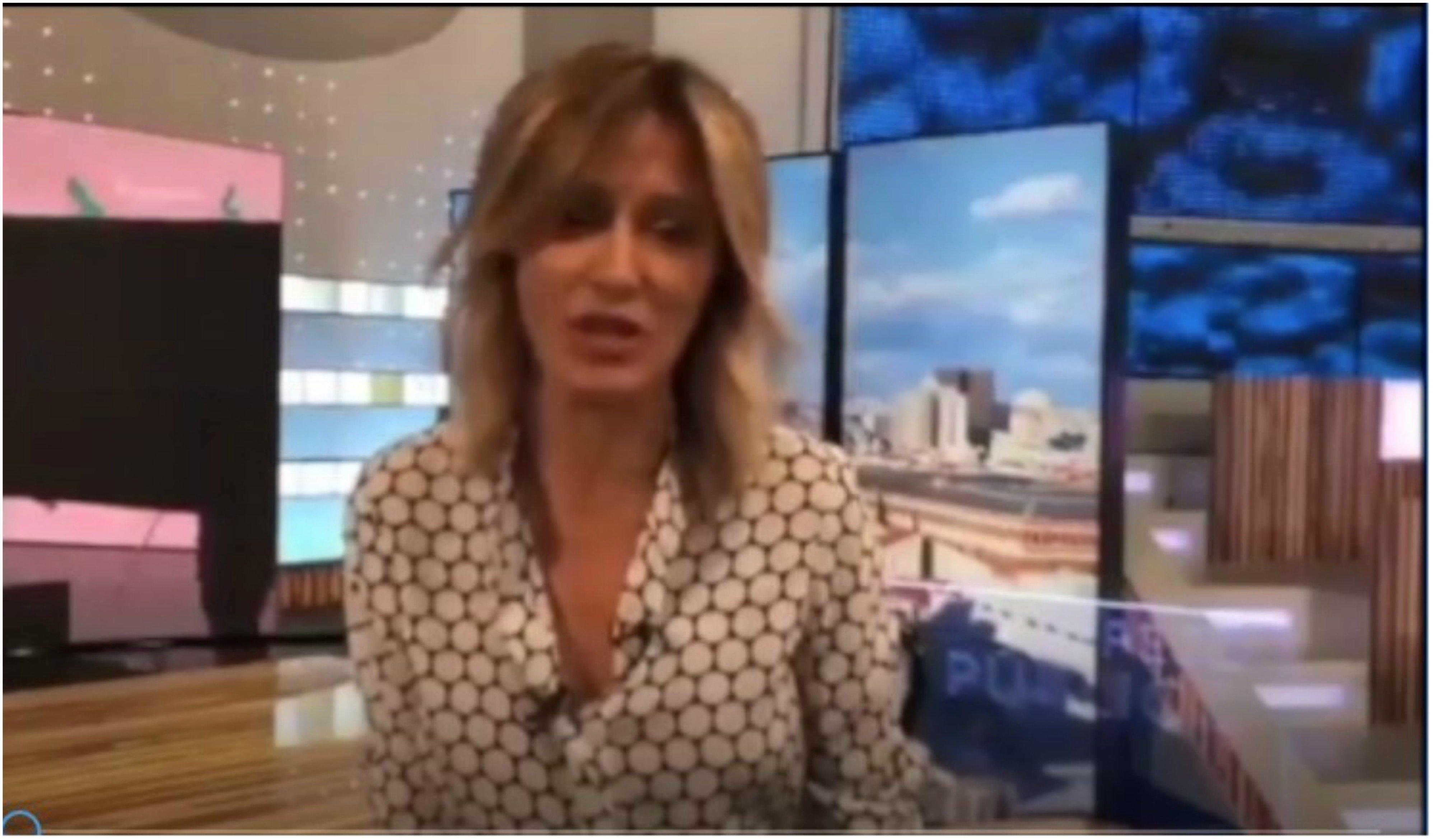 Susanna Griso haciendo un llamamiento para acudir al 8M