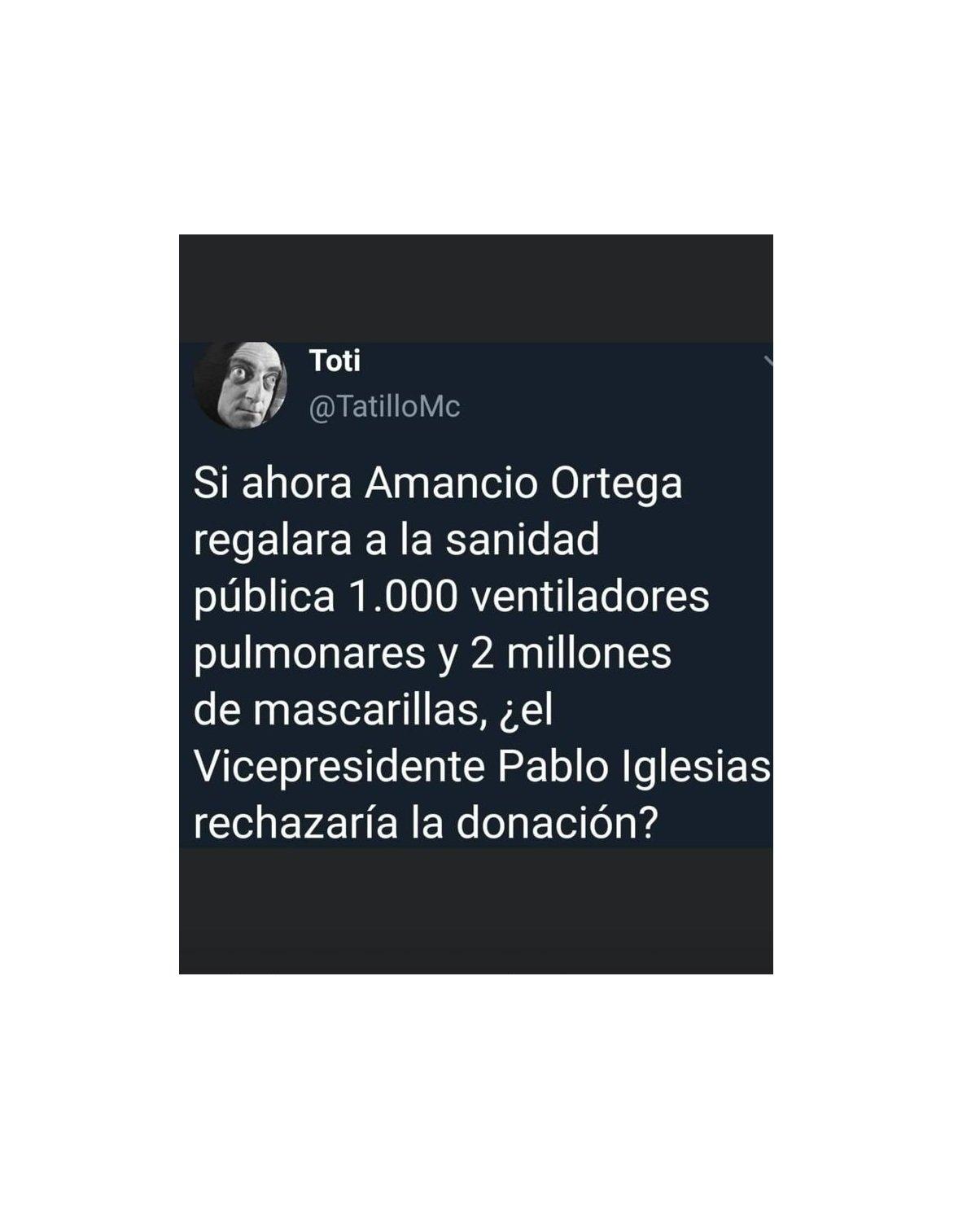 Una pregunta: Pablo Iglesias y Amancio Ortega, ¿dos hombres y un destino?