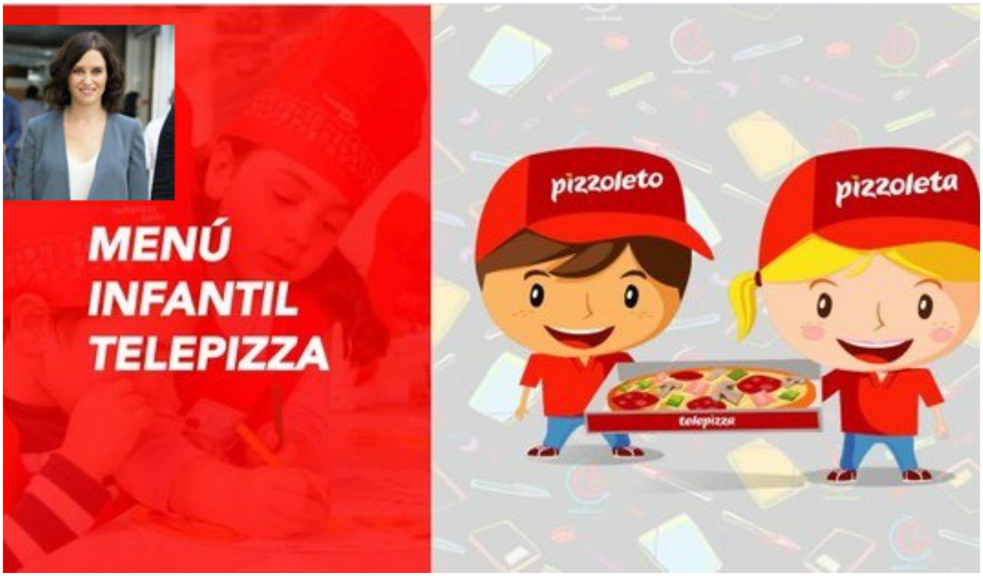 La izquierda, Ministerio de Sanidad incluido, rechaza la propuesta de Ayuso de llevar comida a familias con pocos recursos, a través de Telepizza