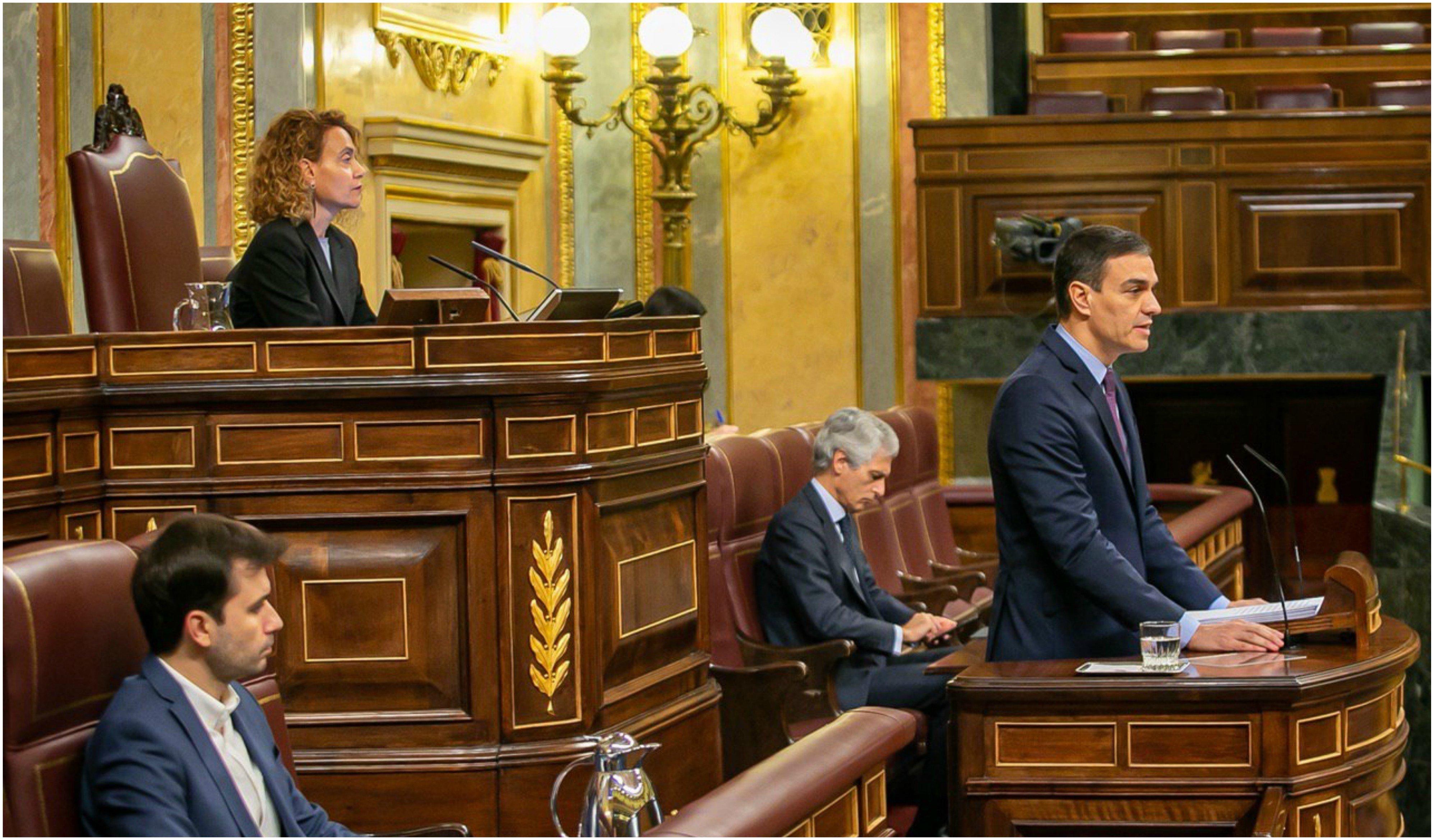 """Pedro Sánchez trata de justificar sus graves errores de gestión pero no se disculpa: """"Se decretó el estado de alarma cuando se tuvo la certeza de que era imprescindible"""""""