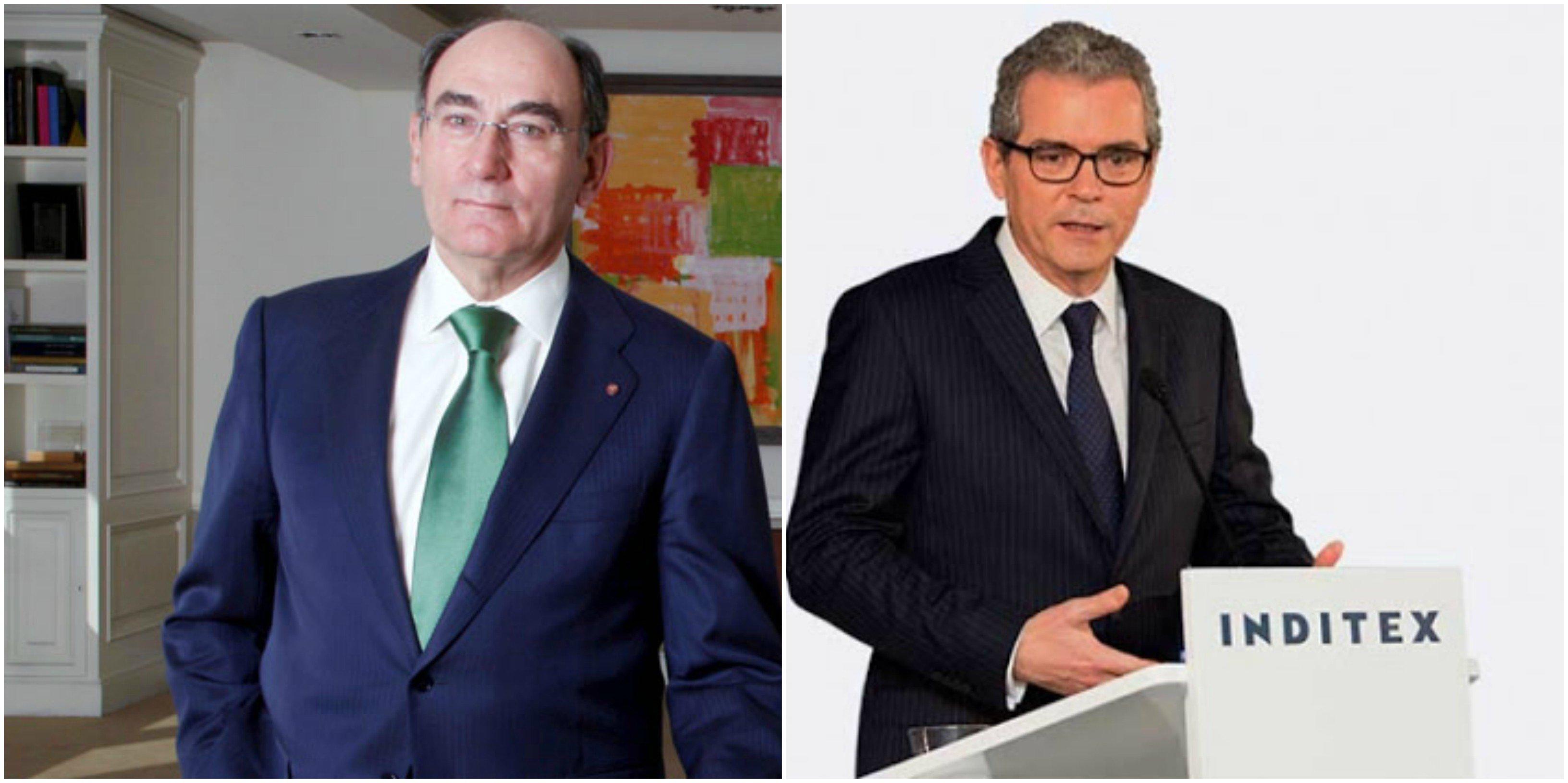Galán, presidente y CEO de Iberdrola; y Pablo Isla, presidente ejecutivo de Inditex
