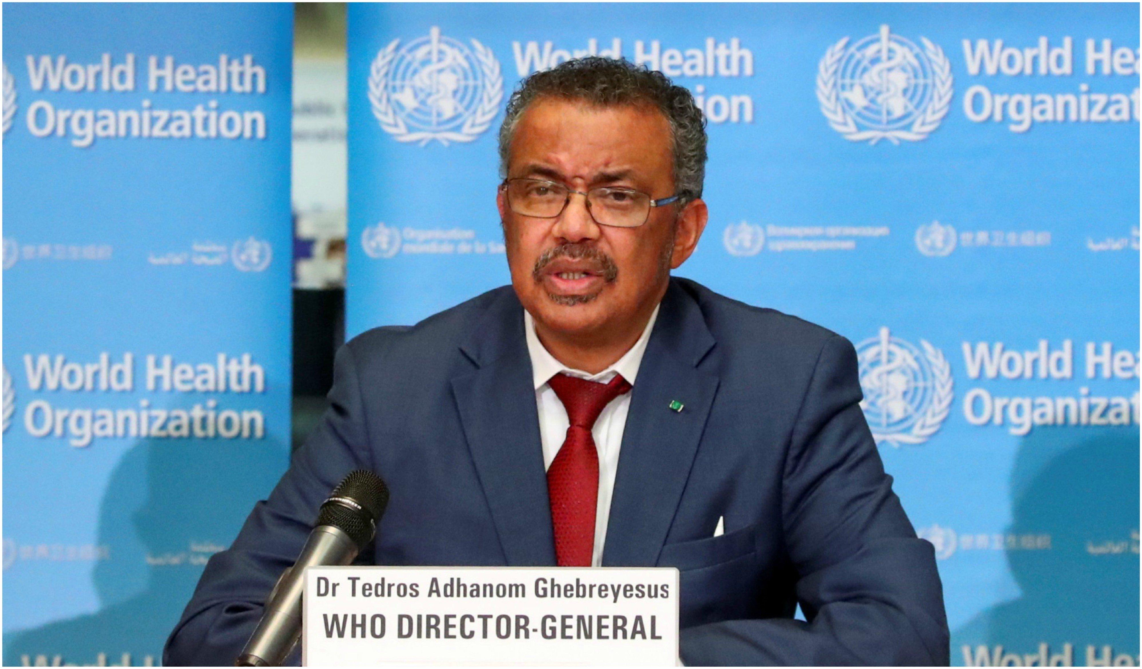 El director de la OMS, Tedros Adhanom