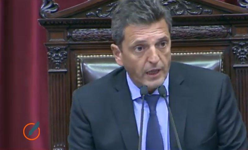 El presidente de la Cámara de Diputados de Argentina, Sergio Massa