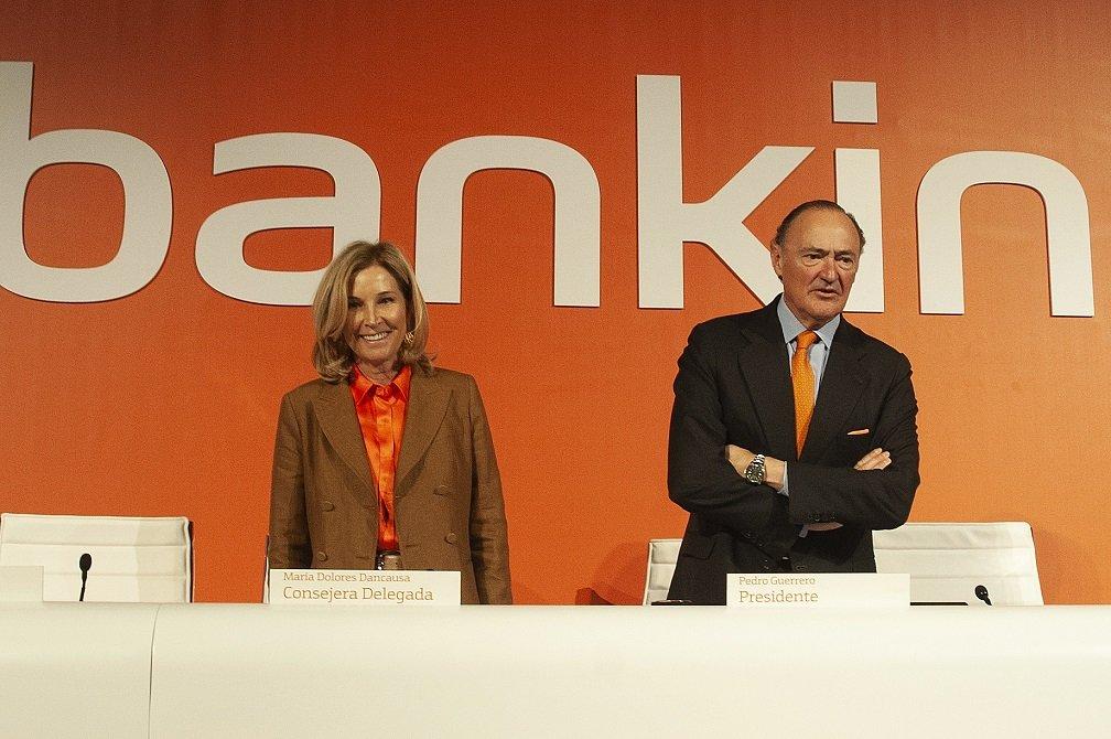 María Dolores Dancausa y Pedro Guerrero, CEO y presidente, respectivamente, de Bankinter