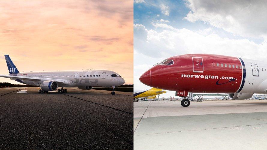 Las aerolíneas SAS y Norwegian son algunas de las que están en problemas