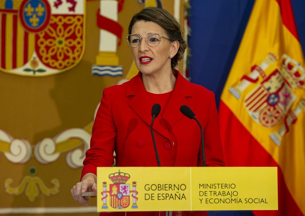 Yolanda Díaz, ministra de Trabajo y Seguridad Social, de quien depende la Dirección General de Trabajo ante la que se piden los ERTEs