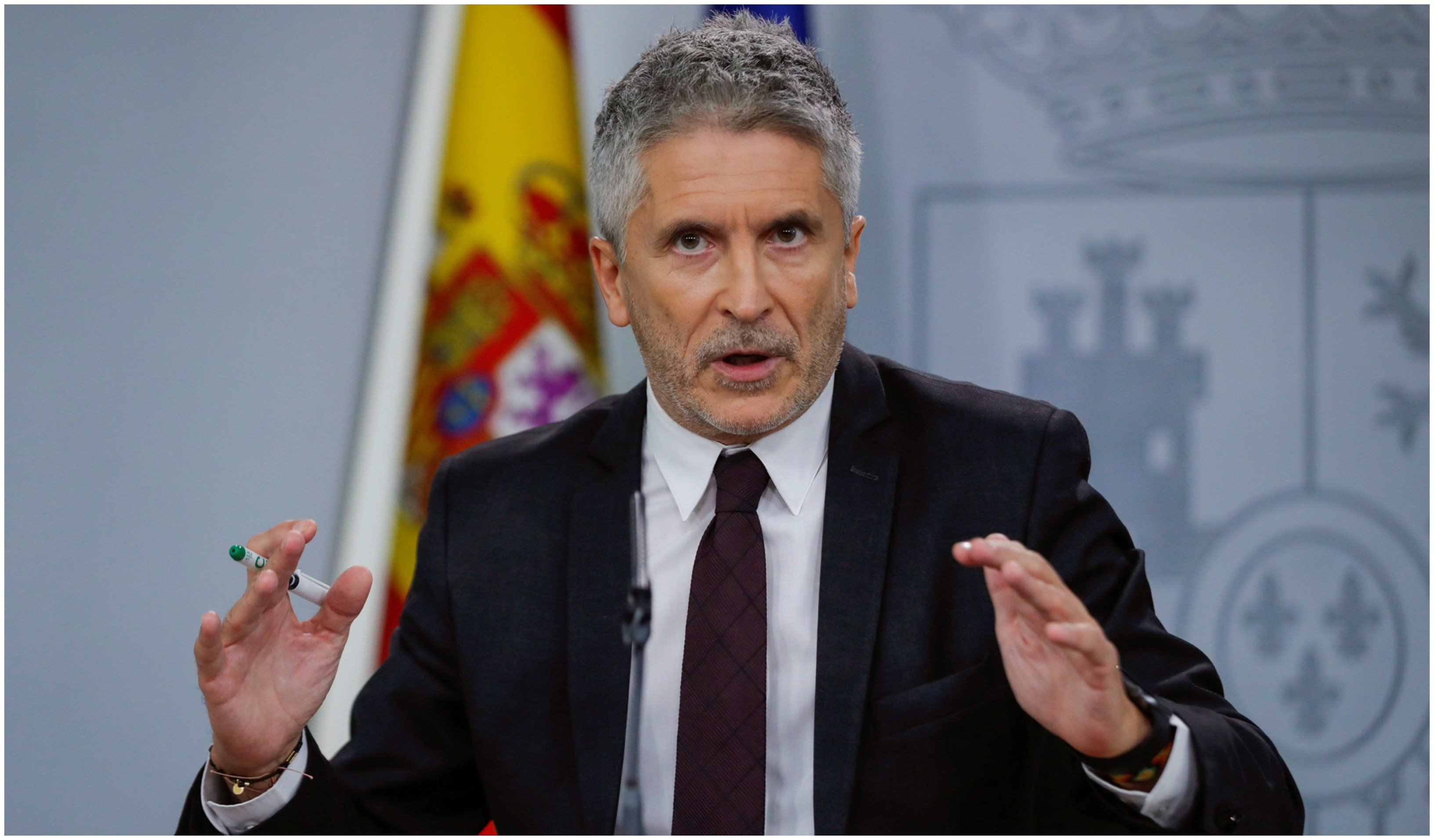 """Tirano Marlaska. El titular de Interior se enorgullece de las detenciones de """"irresponsables"""""""