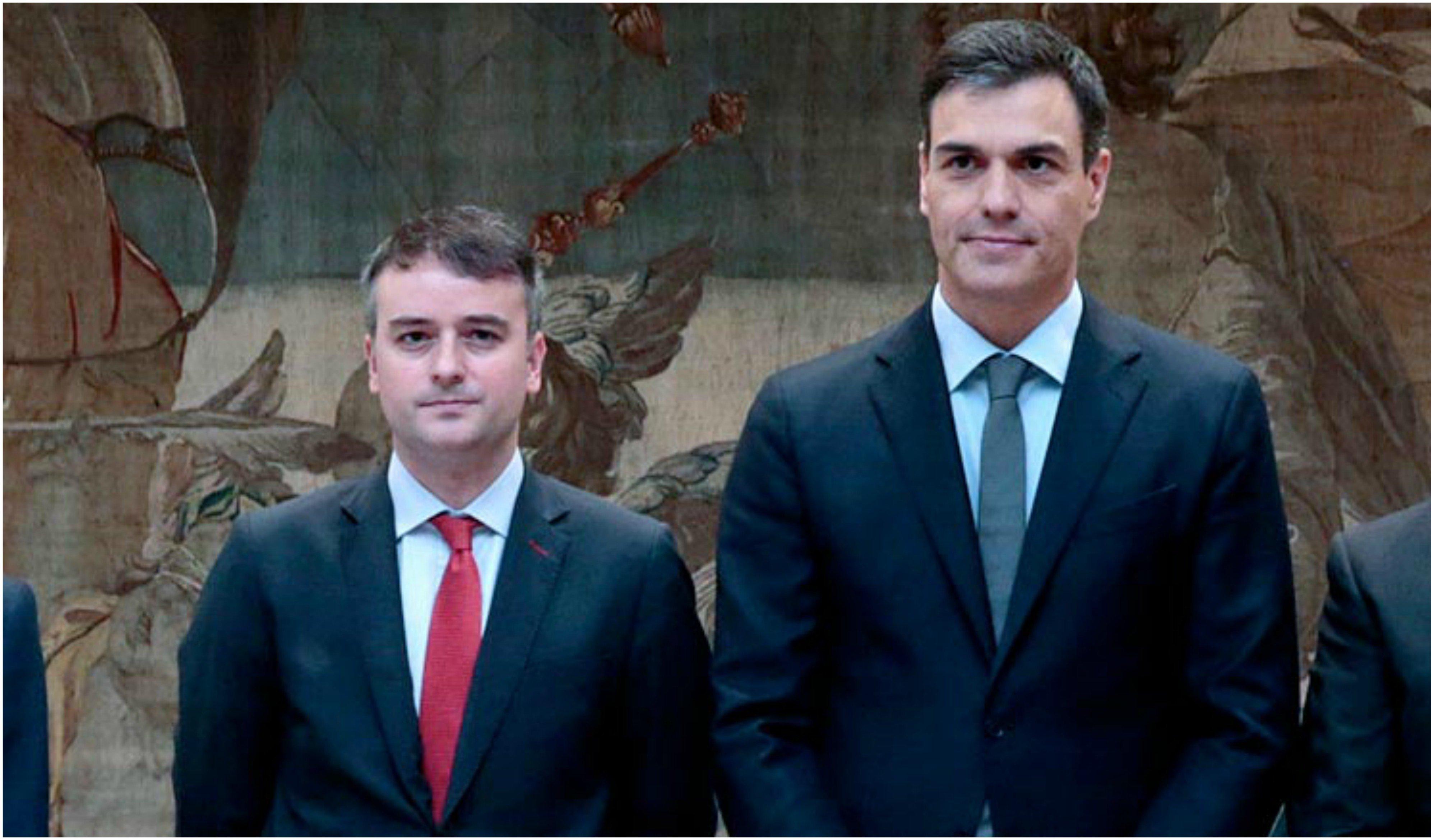 Pedro Sánchez y el jefe del Gabinete de la Presidencia, Iván Redondo