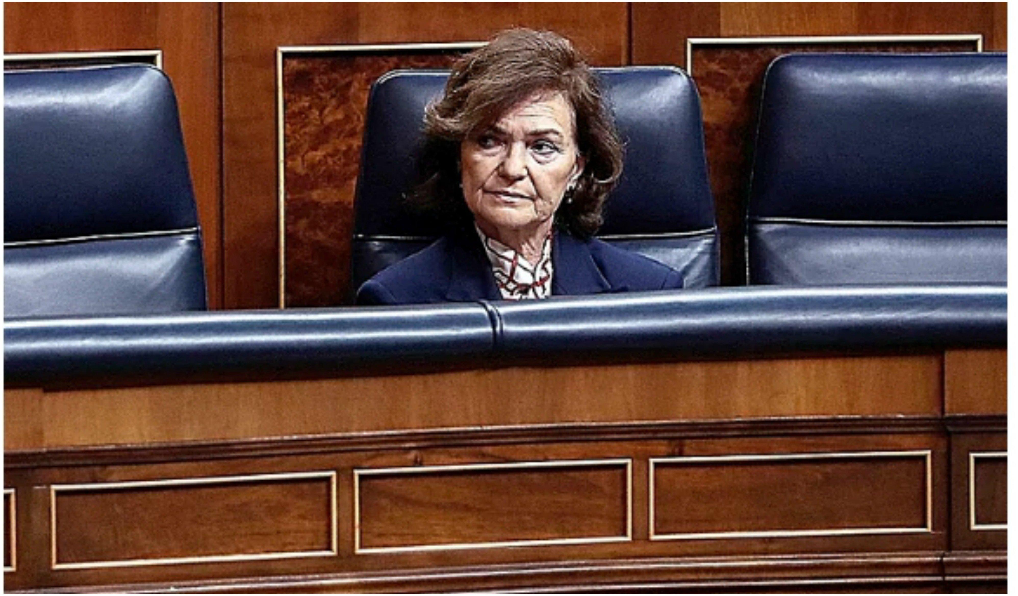 Carmen Calvo controlará telemáticamente el Gobierno tras recibir el alta por coronavirus... lo que n