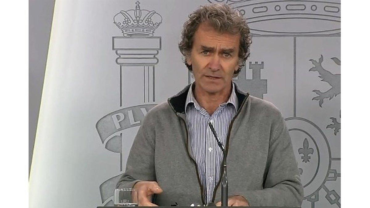 Fernado Simón durante la rueda de prensa de este domingo