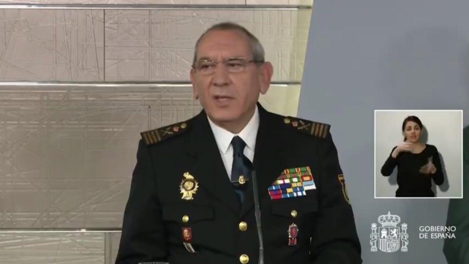 El director adjunto operativo (DAO) de la Policía Nacional, José Ángel González