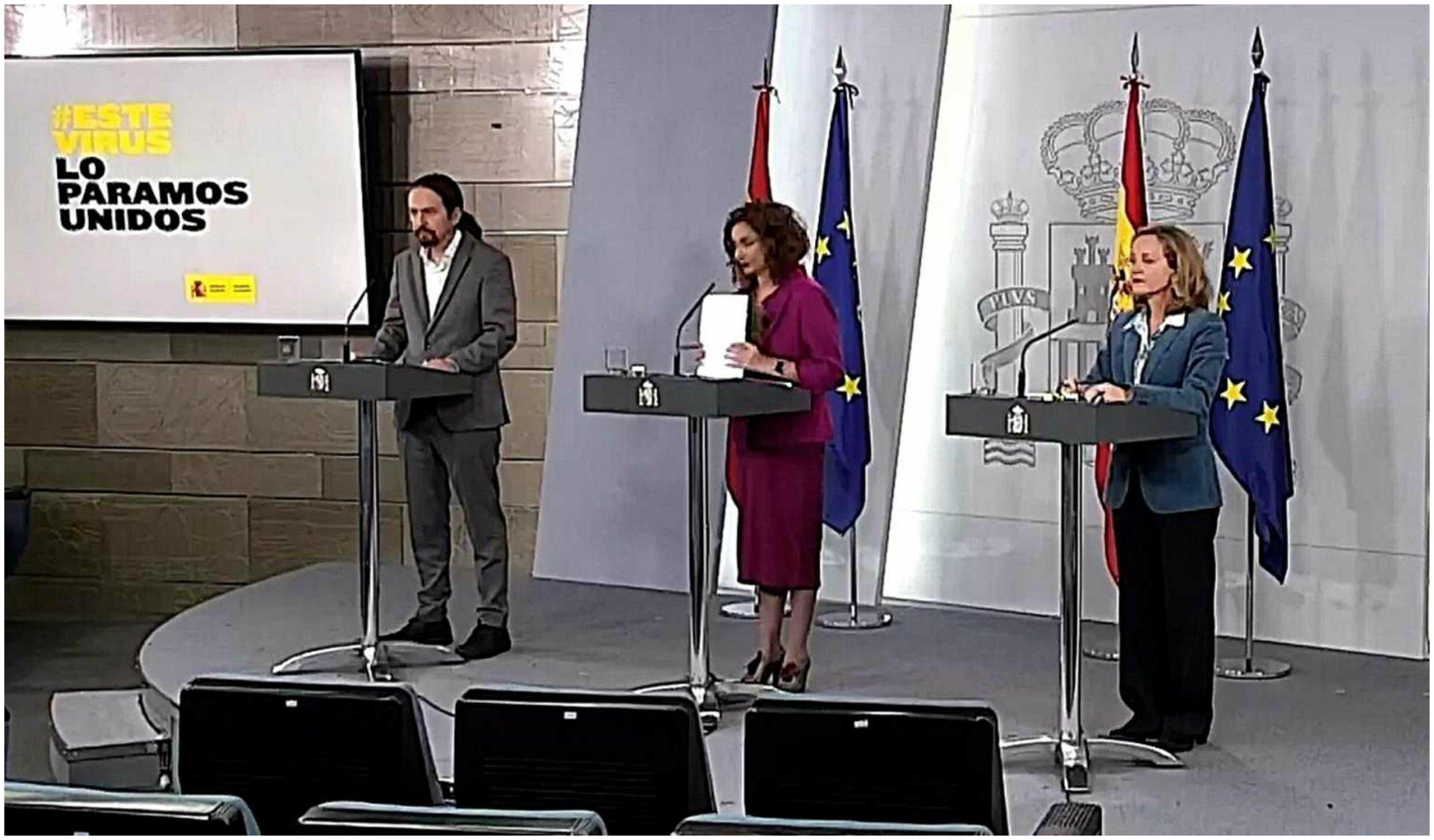 Iglesias, Montero y Calviño