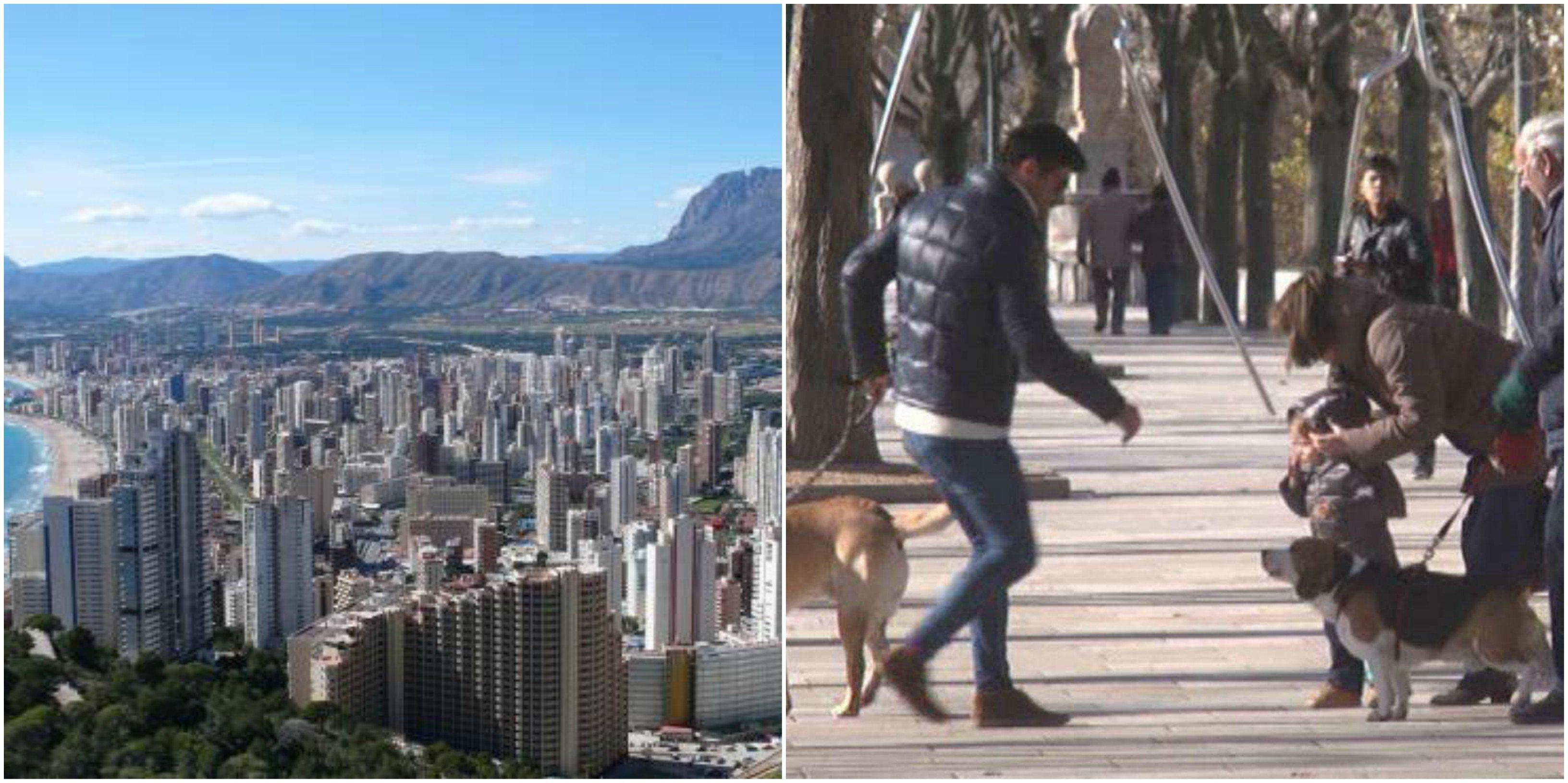 Subir las escaleras en vez de usar el ascensor, en Benidorm y pasear al perro sólo a 250 metros de casa, en Burgos... por el coronavirus