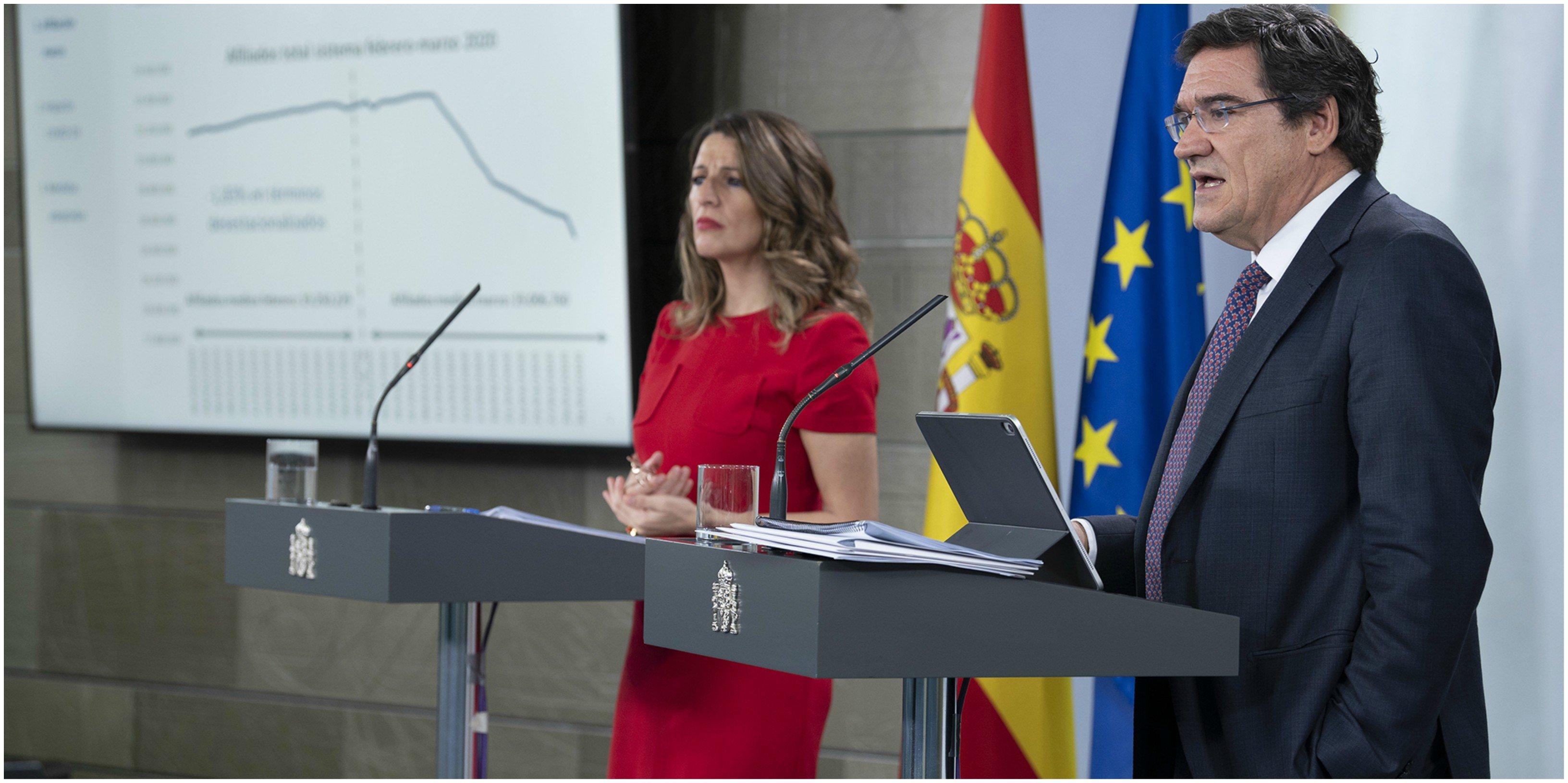 """El Gobierno Sánchez y Cantinflas Díaz. La ministra de Trabajo, Yolanda Díaz supera a Alberto Garzón en oratoria: los ERTES """"no son parados"""""""
