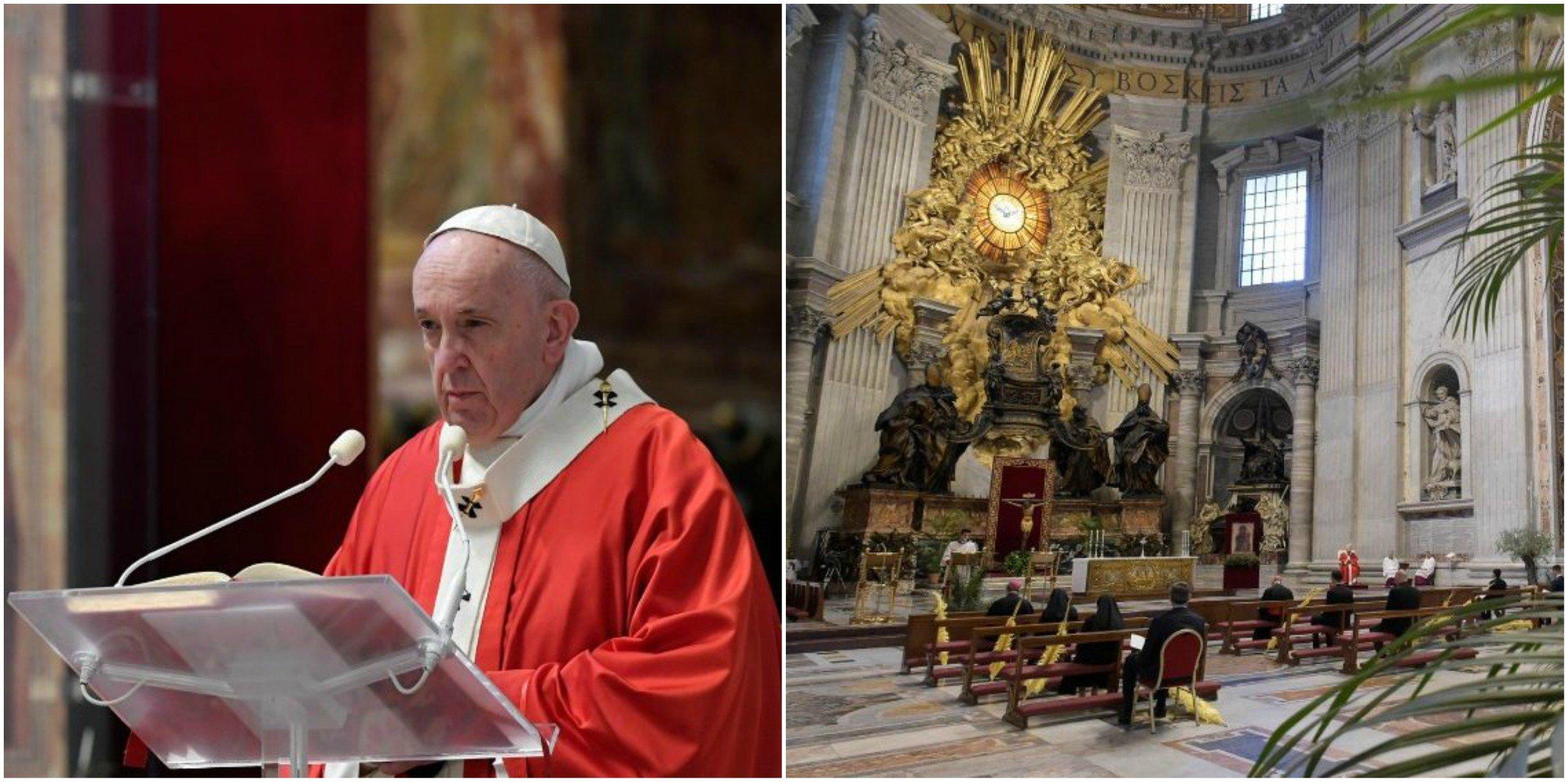El Papa Francisco en la misa del Domingo de Ramos