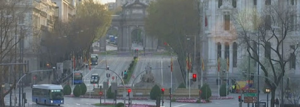 Calle Alcalá, en Madrid, durante el cofinamiento forzoso