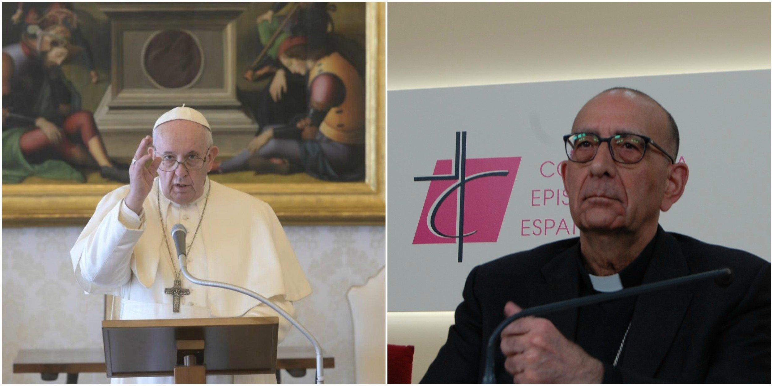 El Papa Francisco y José Luis Omella, presidente de la Conferencia Episcopal Española