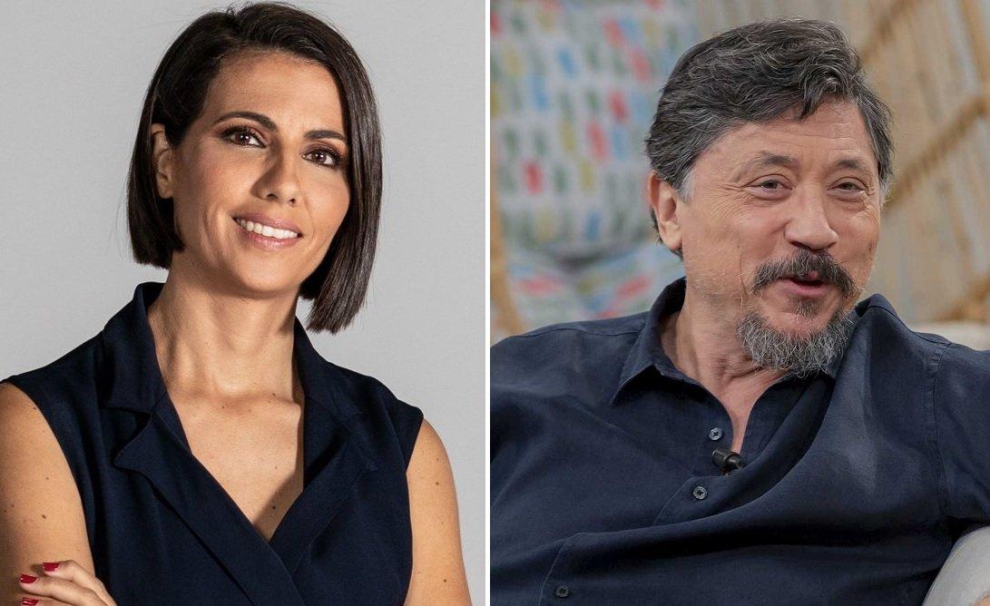La periodista Ana Pastor y el actor Carlos Bardem