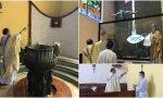 México. Misa de desagravio en una iglesia profanada: mancharon con heces algunos bancos y el paño de la Virgen Dolorosa