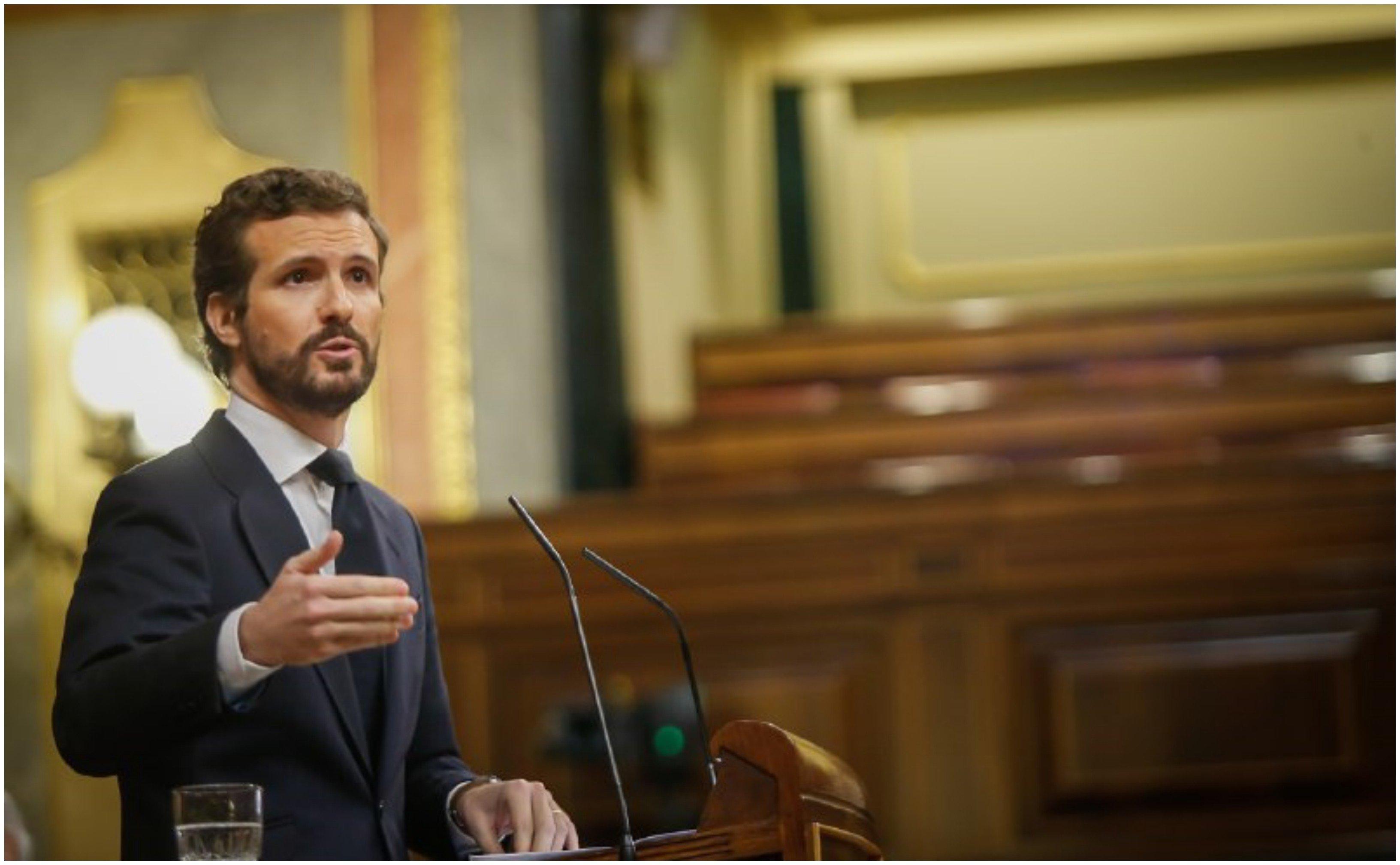 """Pablo Casado anuncia que el PP votará en contra de una nueva prórroga del estado de alarma: """"No le volveremos a apoyar para hundir a España por tercera vez"""""""