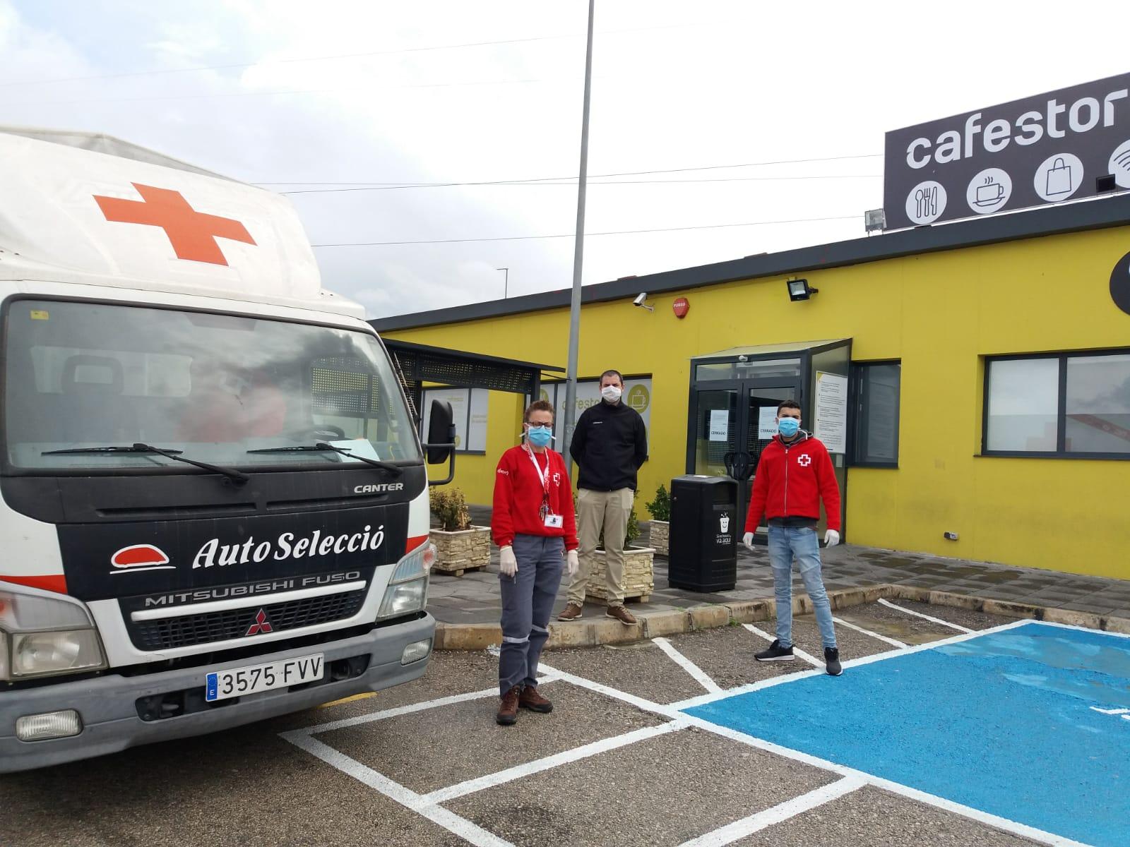Sacyr ha donado comida a asociaciones y fundaciones a través de Cafestore, gestora de áreas de servicio del grupo
