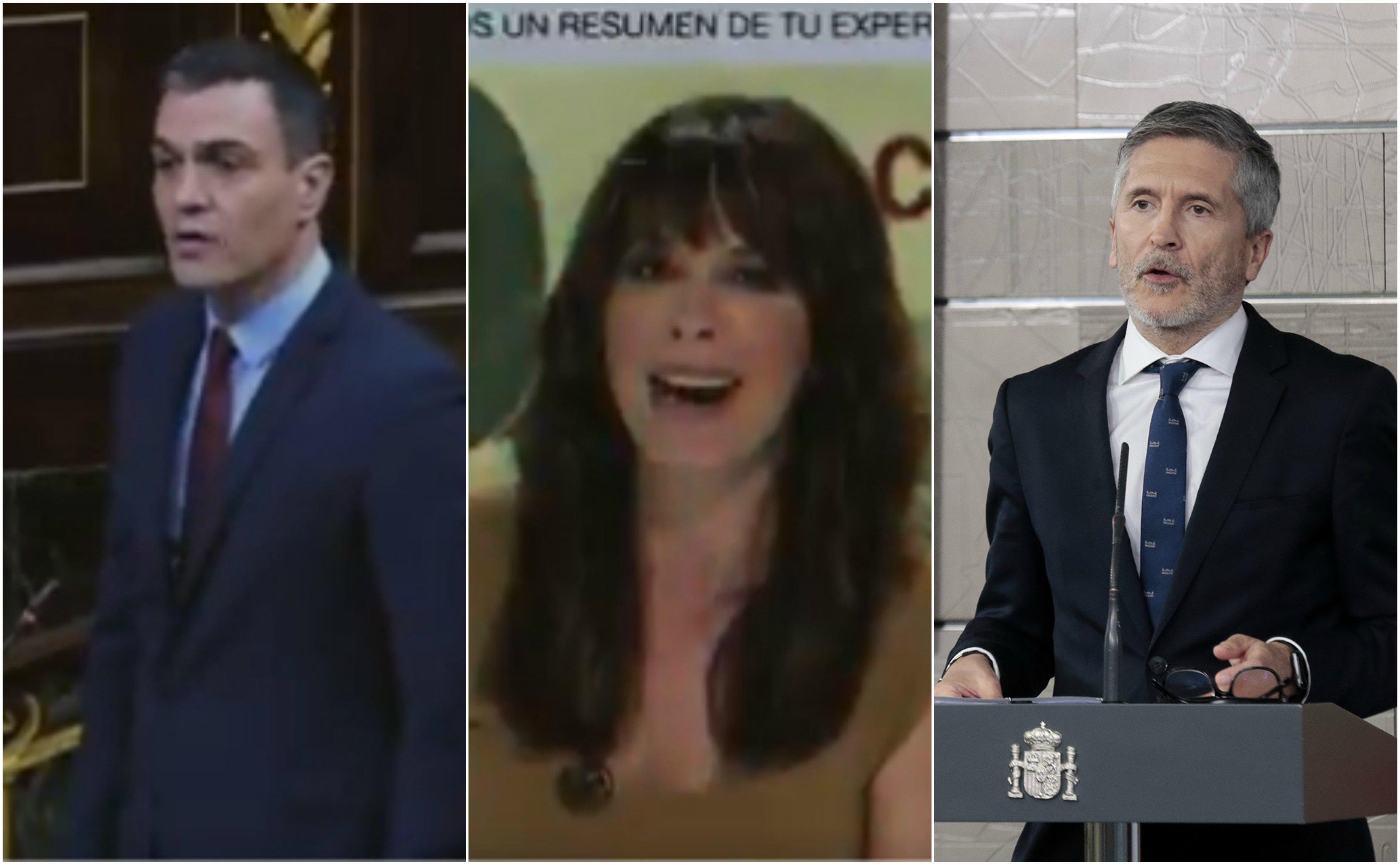 Sánchez, Mendizábal y Marlaska