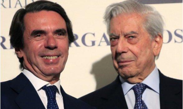Sánchez manipula y recorta libertades. Aznar y Vargas Llo...