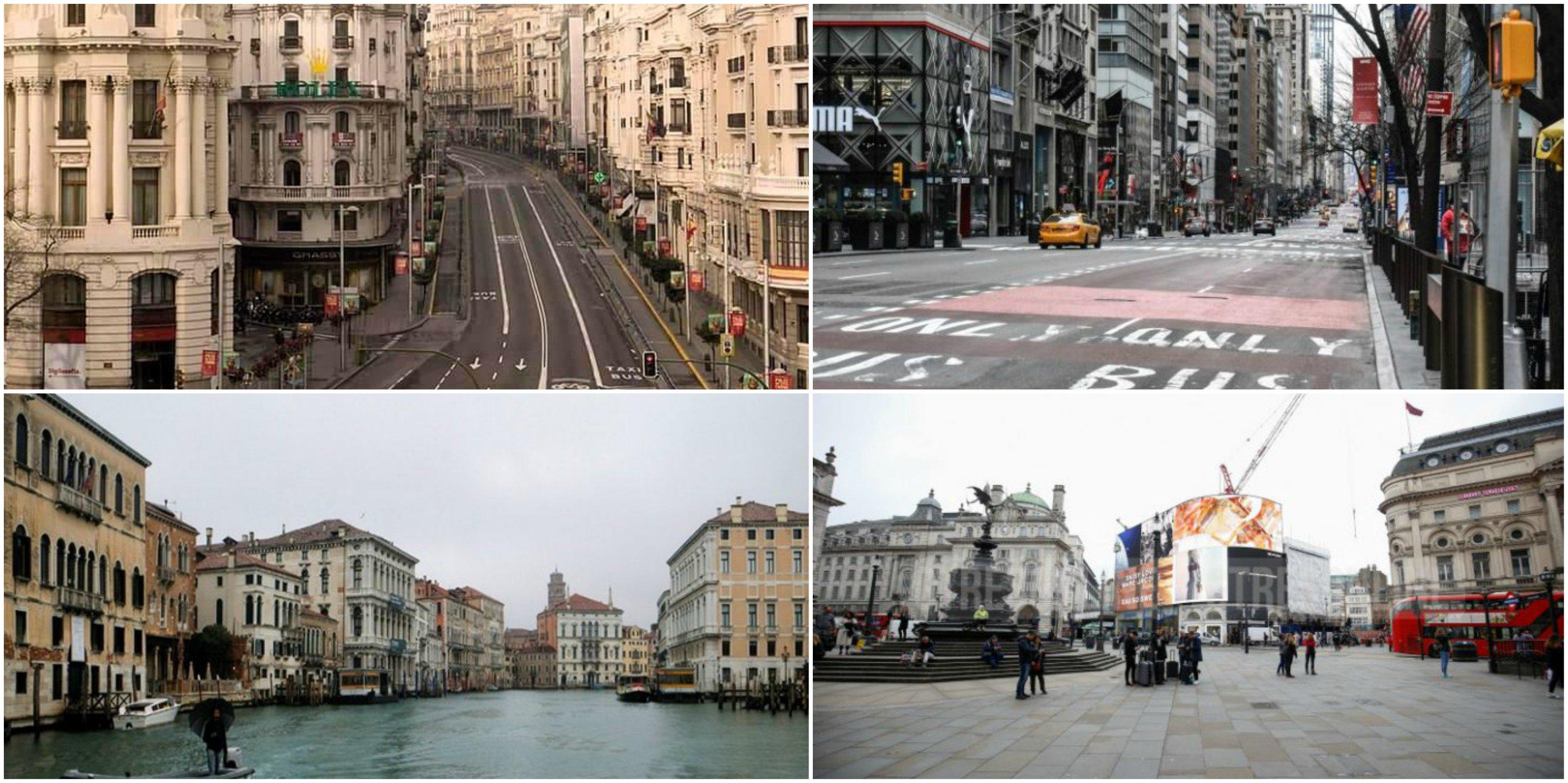 Ciudades vacías; Madrid, Nueva York, Venecia y Londres