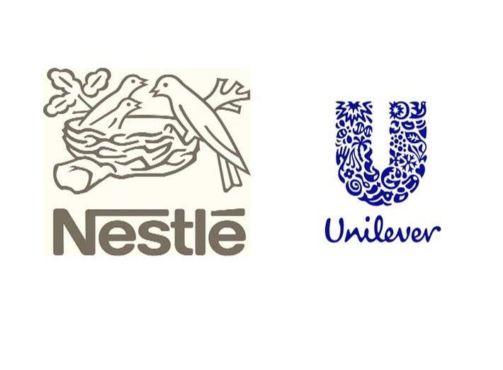Nestlé y Unilever, dos grandes multinacionales con fuerte presencia en el sector de alimentación