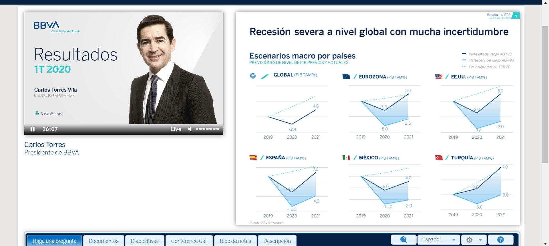 """El desastre del BBVA en EEUU. Los """"apuntes contables"""" de Carlos Torres no convencen al mercado y el banco se desploma en bolsa"""