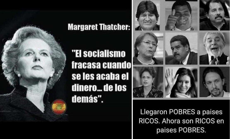 El socialismo, el comunismo y el 'progresismo' político se hacen ricoso con el dinero de los demás