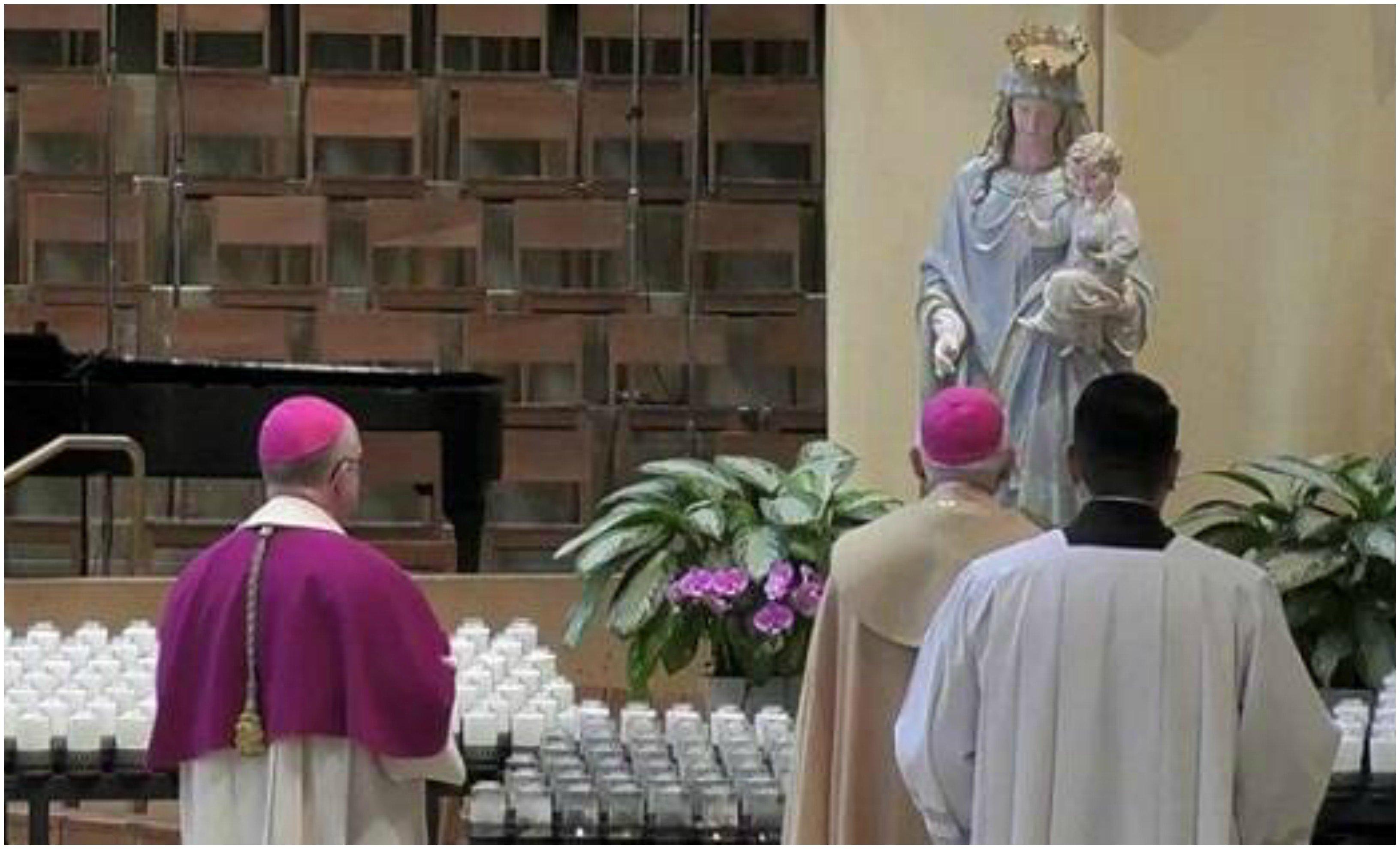 Contra el coronavirus, el arzobispo Gómez, en nombre de los obispos de EEUU, consagra el país a la Virgen María