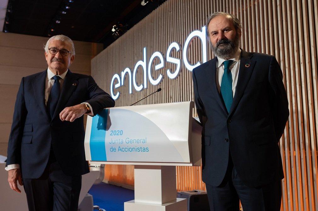 José Bogas, CEO de Endesa, y Juan Sánchez-Calero, presidente no ejecutivo