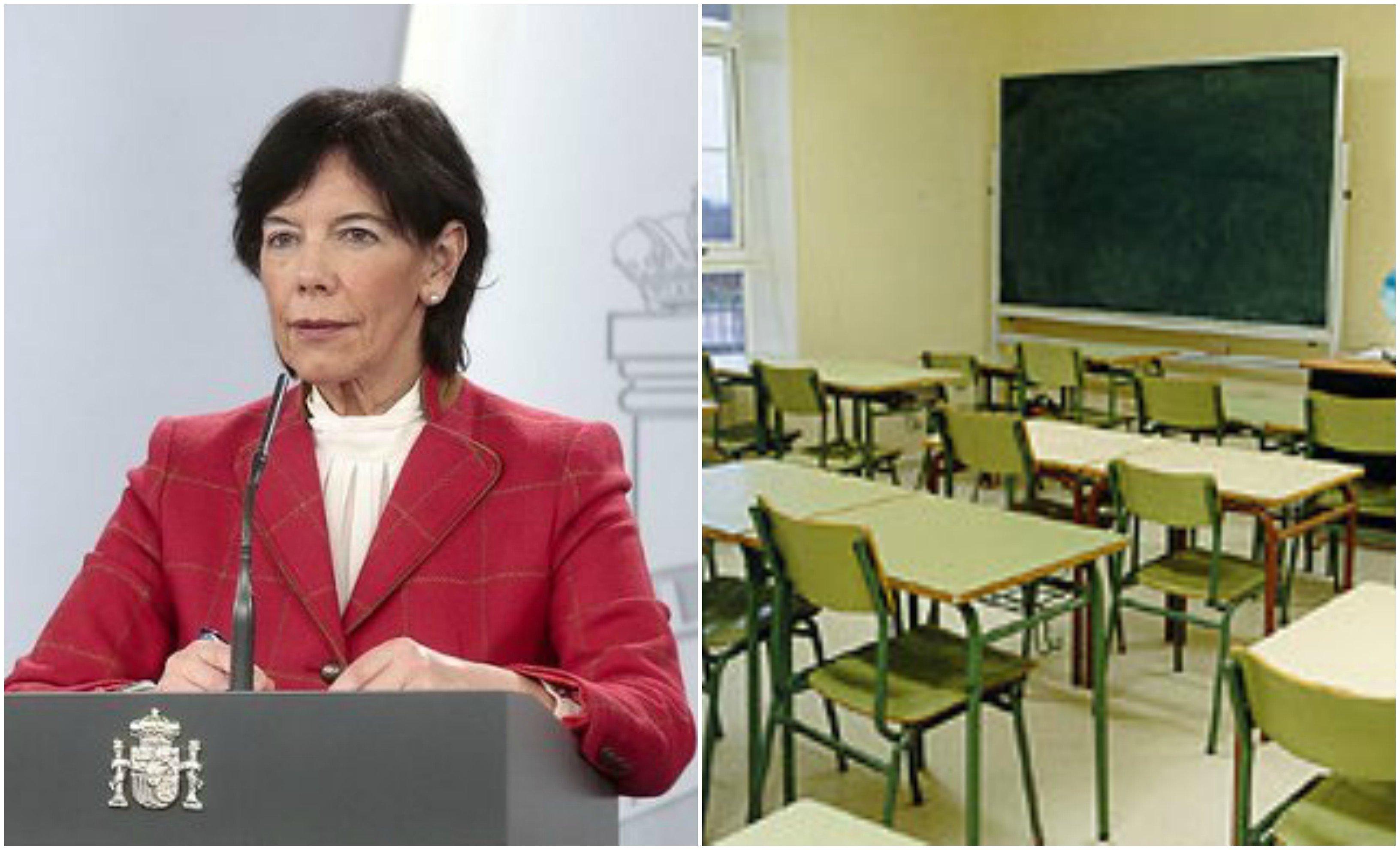 Celaá, de la pedantería al ridículo: la mitad de los alumnos en clase y la otra mitad en casa