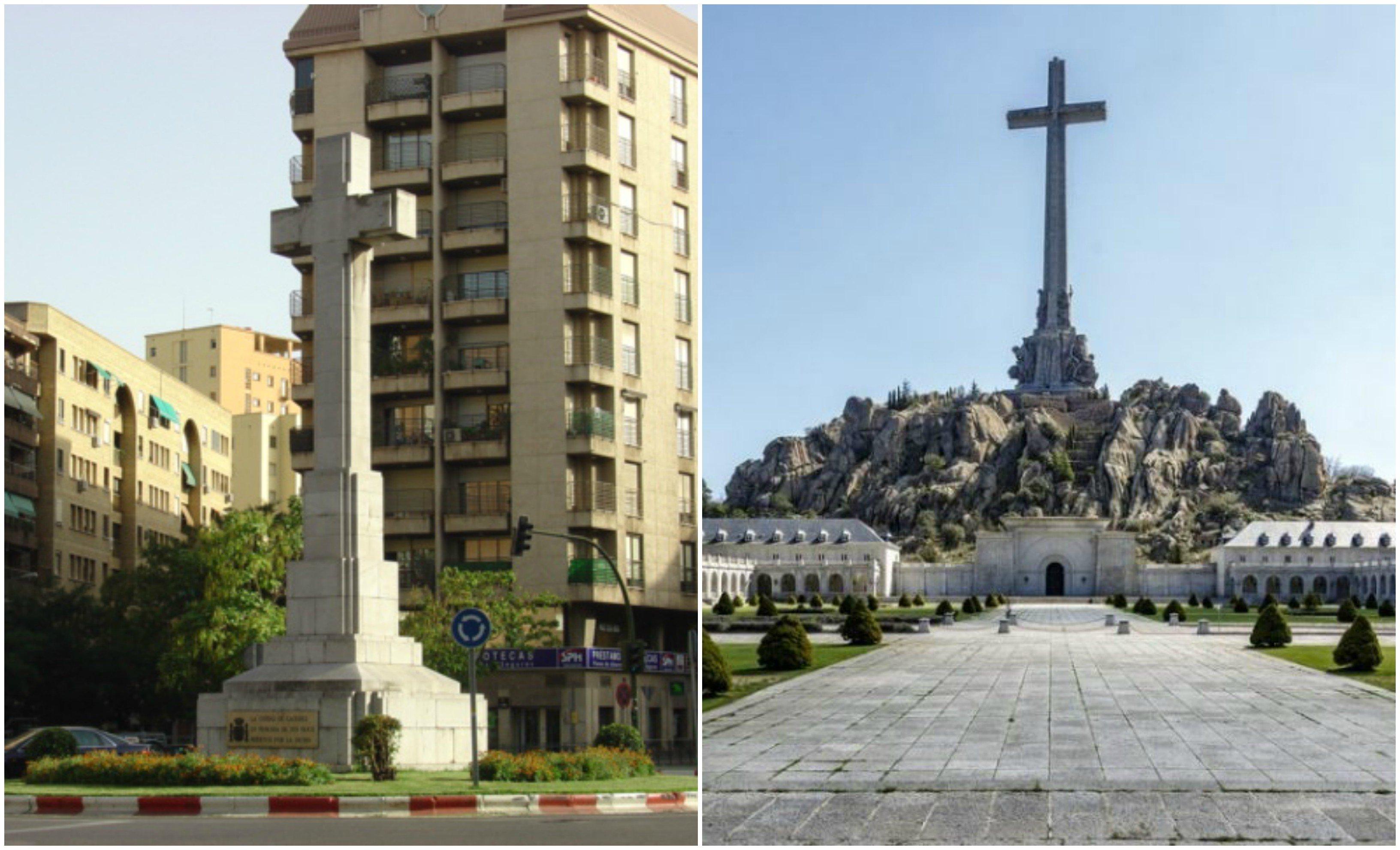 Cristofobia sociopodemita. Quieren derribar la cruz de Plaza de América, en Cáceres… pero el premio gordo para Podemos consiste en destruir la cruz del Valle de los Caídos, la más grande del mundo